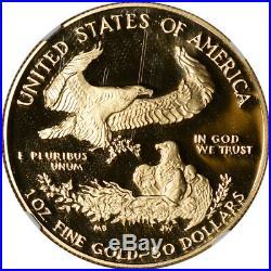 1988-W American Gold Eagle Proof 1 oz $50 NGC PF69 UCAM