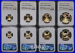 1989 Gold American Eagle 4 Coin Proof Set NGC PF70 Ultra Cameo