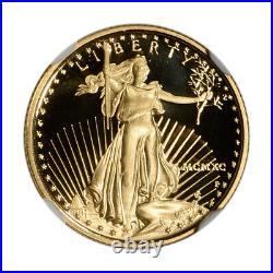 1990-P American Gold Eagle Proof 1/10 oz $5 NGC PF70 UCAM