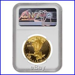 1992 W 1 oz $50 Proof Gold American Eagle NGC PF 69 UCAM Mint Error Rev Struck