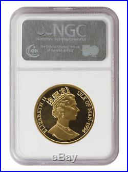 1994 1oz Proof Gold Angel Isle of Man PF 69 Ultra Cameo NGC