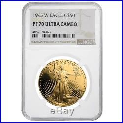 1995 W 1 oz $50 Proof Gold American Eagle NGC PF 70 UCAM