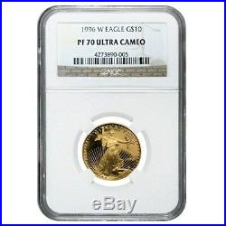1996 W 1/4 oz $10 Proof Gold American Eagle NGC PF 70 UCAM