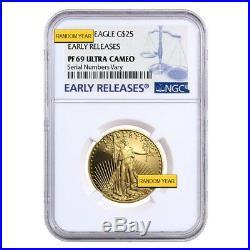 1/2 oz $25 Proof Gold American Eagle NGC/PCGS PF 69 (Random Year)