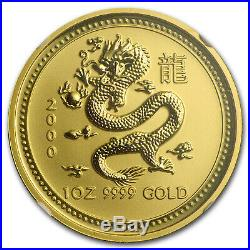 2000 1 oz Gold Lunar Year of the Dragon MS-70 NGC (Series I) SKU#58860