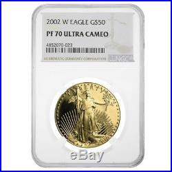 2002 W 1 oz $50 Proof Gold American Eagle NGC PF 70 UCAM