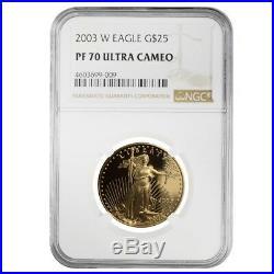 2003 W 1/2 oz $25 Proof Gold American Eagle NGC PF 70 UCAM