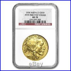 2006 1 oz Gold Buffalo MS-70 NGC (First Strikes) SKU #17870
