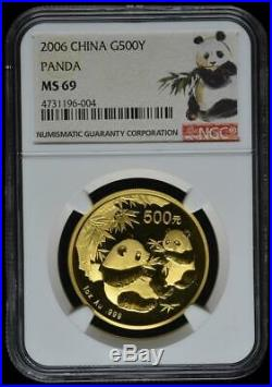 2006 China 500 Yuan Gold Panda Coin NGC/NCS MS69 Conserved! Red Label