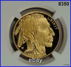2006 W Buffalo Gold Coin. 9999 Fine 1oz Ngc Certified Pf70 Ultra Cameo #8350