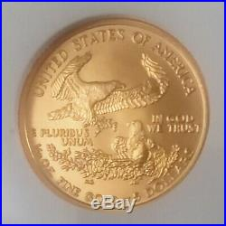 2007 American Eagle Gold 1/10 OZ. Coin, NGC Gem Uncirculated Early Releases