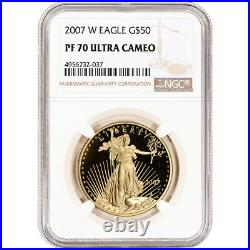 2007-W American Gold Eagle Proof 1 oz $50 NGC PF70 UCAM