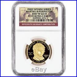 2007-W US First Spouse Gold 1/2 oz Proof $10 Martha Washington NGC PF70