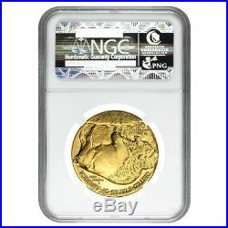 2008 1 oz $50 Gold American Buffalo NGC MS 70