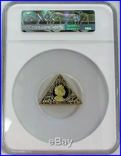 2008 Gold Isle Of Man 1 Oz King Tutankhamun Death Mask Ngc Proof 69 Ultra Cameo