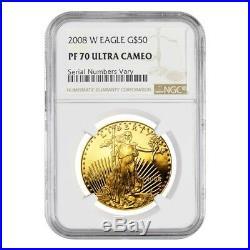 2008 W 1 oz $50 Proof Gold American Eagle NGC PF 70 UCAM