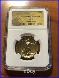 2009 $20 UHR NGC MS 70 Gold St. Gaudens Double Eagle Ultra High Relief