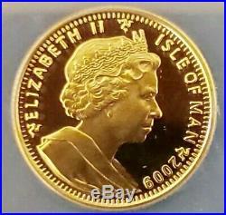 2009 Gold Isle Of Man Angel Vs Dragon Set Pf70 Ngc 2 Proof 1/4 Oz. 9999 Coins