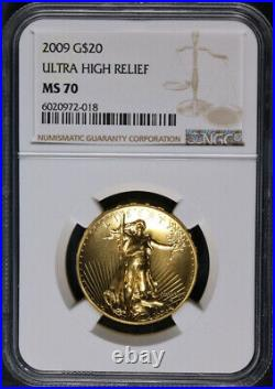 2009 Gold Ultra High Relief $20 NGC MS70 Brown Label STOCK