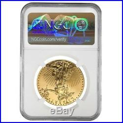 2010 1 oz $50 Gold American Eagle NGC MS 69 Mint Error (Rev Struck Thru)