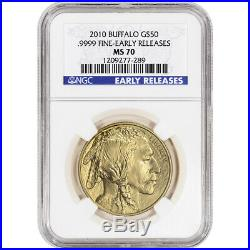 2010 American Gold Buffalo (1 oz) $50 NGC MS70 Early Releases