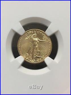 2012 $5 American Gold Eagle 1/10 oz NGC MS-70 First Release Eagle Label