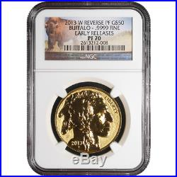 2013-W Reverse Proof $50 American Gold Buffalo 1 oz NGC PF70 ER Buffalo Label