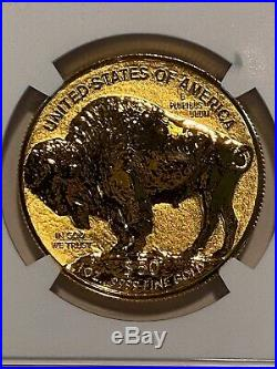 2013 W Reverse Proof $50 Gold Buffalo NGC PF69