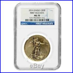 2014 1 oz $50 Gold American Eagle NGC MS 70 First Releases