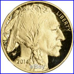 2014-W American Gold Buffalo Proof 1 oz $50 NGC PF70 UCAM Bressett Signed
