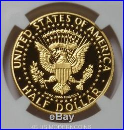 2014 W Gold Kennedy Half Dollar 50th Anniv High Relief NGC PF70UC First Releases