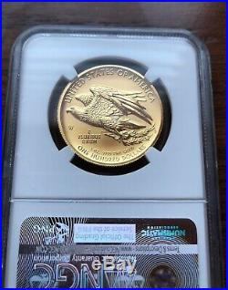 2015-W $100 American Liberty High Relief 1 oz Gold Coin. MS69 NGC