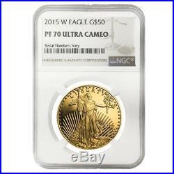 2015 W 1 oz $50 Proof Gold American Eagle NGC PF 70 UCAM