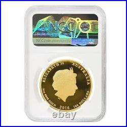 2016 1 oz Colorized Proof Gold Lunar Year of The Monkey NGC PF 70 UCAM
