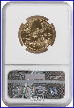 2016 $25 1/2oz Gold American Eagle MS70 NGC ER Blue Label