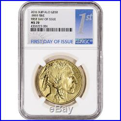 2016 American Gold Buffalo (1 oz) $50 NGC MS70 First Day of Issue 1st Label