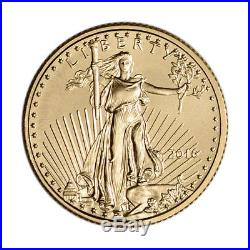 2016 American Gold Eagle (1/10 oz) $5 NGC MS70 First Day of Issue 1st Label