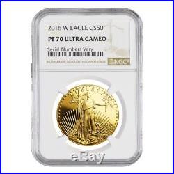 2016 W 1 oz $50 Proof Gold American Eagle NGC PF 70 UCAM