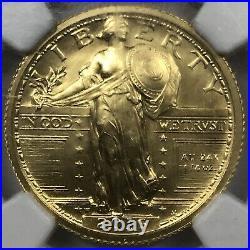 2016-W 24K Gold Standing Liberty Quarter 1/4 oz NGC SP69 100th Anniversary