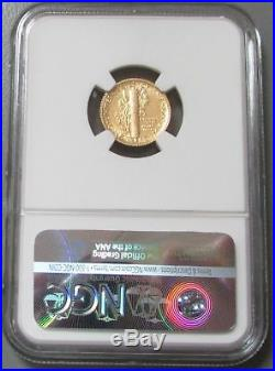 2016 W Gold Mercury Dime 1/10 Oz Gold Centennial Coin Ngc Sp 70 Early Releases