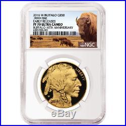 2016-W Proof $50 American Gold Buffalo 1 oz NGC PF70UC Buffalo ER Label