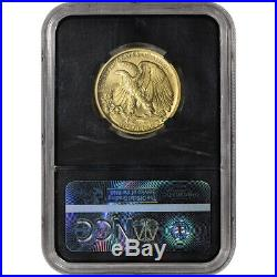 2016-W US Gold Walking Liberty Half 1/2 oz 50C NGC SP70 Early Releases Moy Black