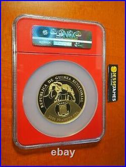 2017 5000f Eq Guinea Proof Gold Donald Trump Ngc Pf70 1 Oz. 9999 Mintage 500