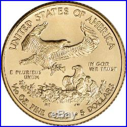 2017 American Gold Eagle (1/10 oz) $5 NGC MS70 Early Releases St Gaudens Label
