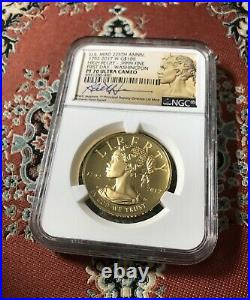 2017 Gold American Liberty 225th Anniversary G$100 NGC PF70 UC First Day