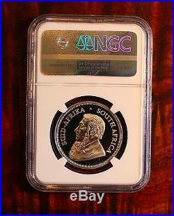 2017 South Africa 1 Oz Platinum Krugerrand Proof NGC Pf 70 Ultra Cameo 50th Anv