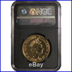 2017 U. K. 100 Pound 1 oz Gold Queen's Beast The Dragon NGC MS70 FDI London Labe