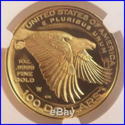 2017 W American Liberty High Relief Gold Proof $100 ULTRA CAMEO NGC PF70 ER OGP