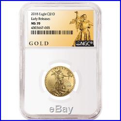 2018 $10 American Gold Eagle 1/4 oz. NGC MS70 ALS ER Label