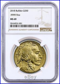 2018 1 oz American Gold Buffalo $50 Coin NGC MS69 SKU50658